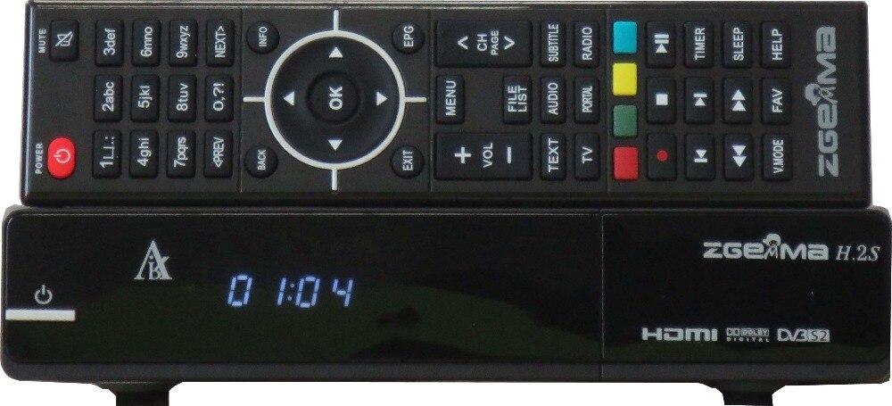 2pcs/lot New Zgemma H.2S Linux satellite receiver 2*DVB-S2 low cost set top box цена