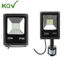 LED Flood Light 10W 20W 30W 50W 100W Waterproof Pir Motion sensor LED Floodlight Refletor Spotlight For Outdoor Lighting 230v