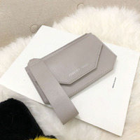 Handcuffs fashion clamshell ladies wallet mobile phone bag solid color purse.