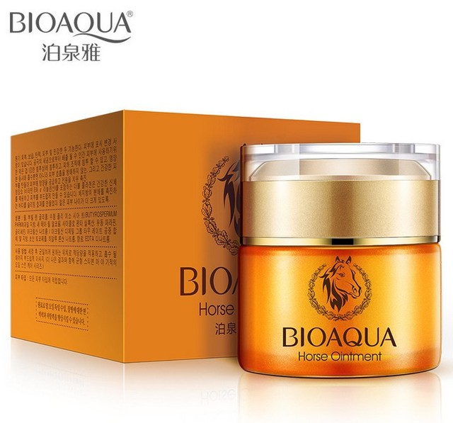 BIOAQUA Horse Oil moisturizing Essence Cream 50ml  Whitening Oil Control hydrating brighten face care repair cream