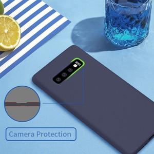 Image 5 - Жидкий силиконовый чехол Nillkin для Samsung Galaxy S10 чехол 6,1 для Samsung S10 Plus 6,4 S10e/S10 Lite защитный чехол 5,8