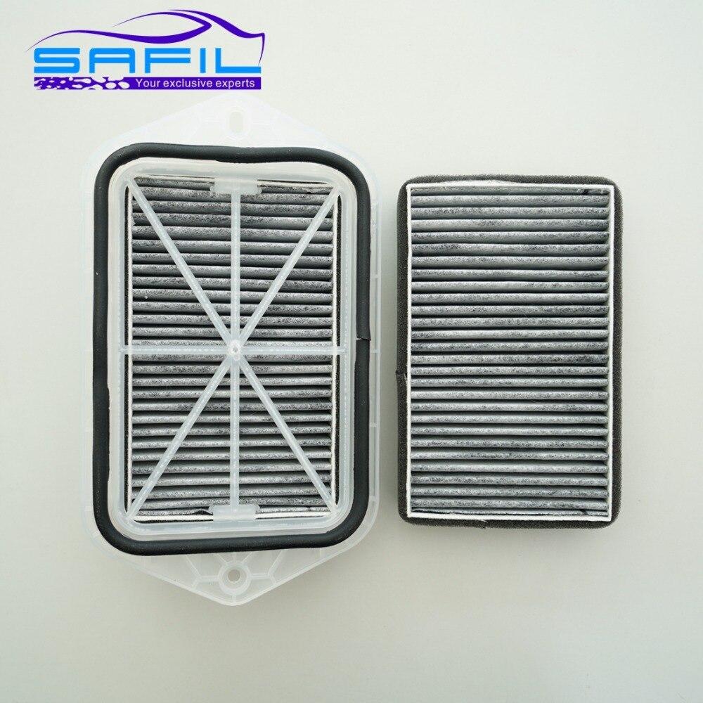 2 Trous Cabine Filtre À charbon pour Vw Sagitar CC Passat Magotan Golf Tiguan Touran Audi Skoda Octavia Externe 2 Filtres # ST100