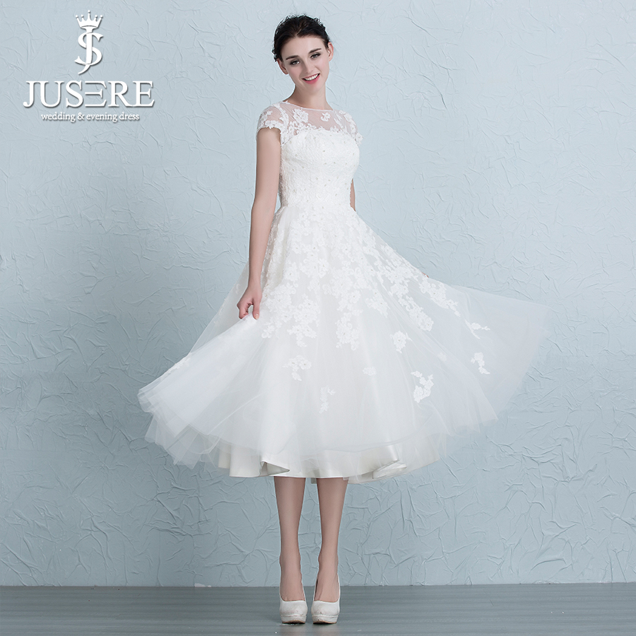 JUSERE 2017 New princess style France Lace Illusion Neckline A line ...