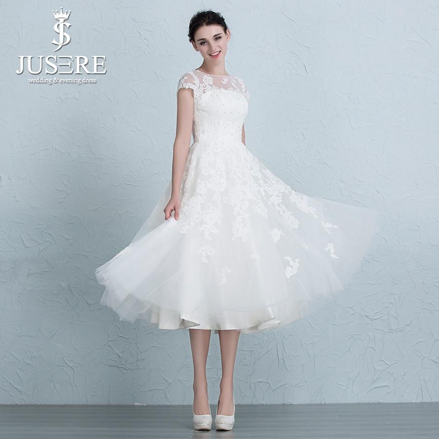 Buy tea length wedding dress and get free shipping on AliExpress.com