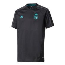 ADIDAS CAMISETA ENTRENAMIENTO REAL MADRID 2017 2018 niño – camiseta fútbol poliester negro – camisetas de futbol, real madrid camiseta