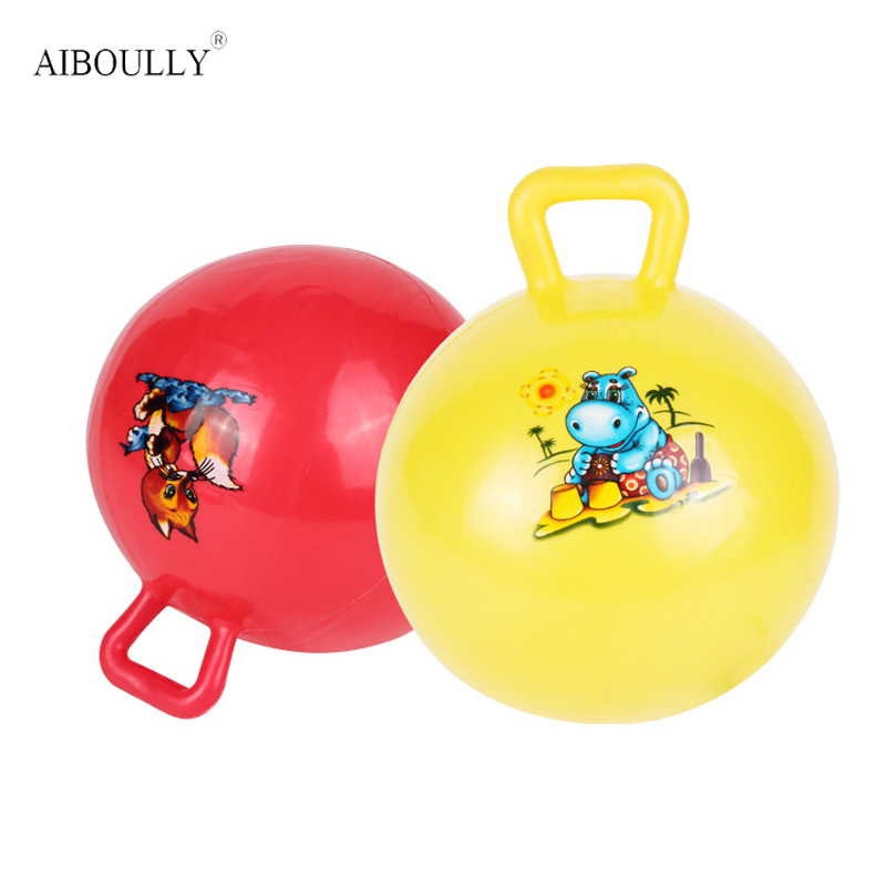 Children Toy Ball With Handle Grasp Rubber Ball Baby Funny Toys Outdoor Indoor Fun Sports Toy Balls