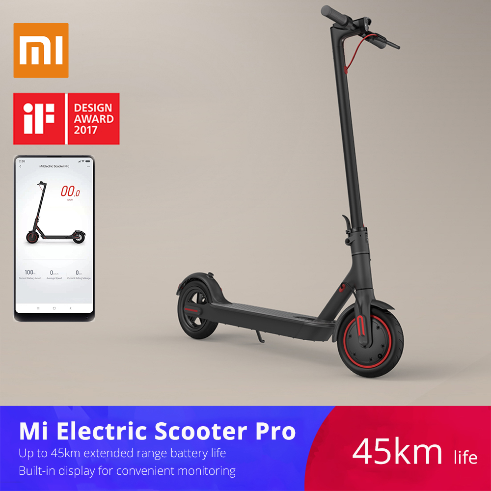 Xiaomi mijia M365/Pro adult electric scooter longboard hoverboard skateboard 2 wheel patinete electrico scooter 45KM mileage girl