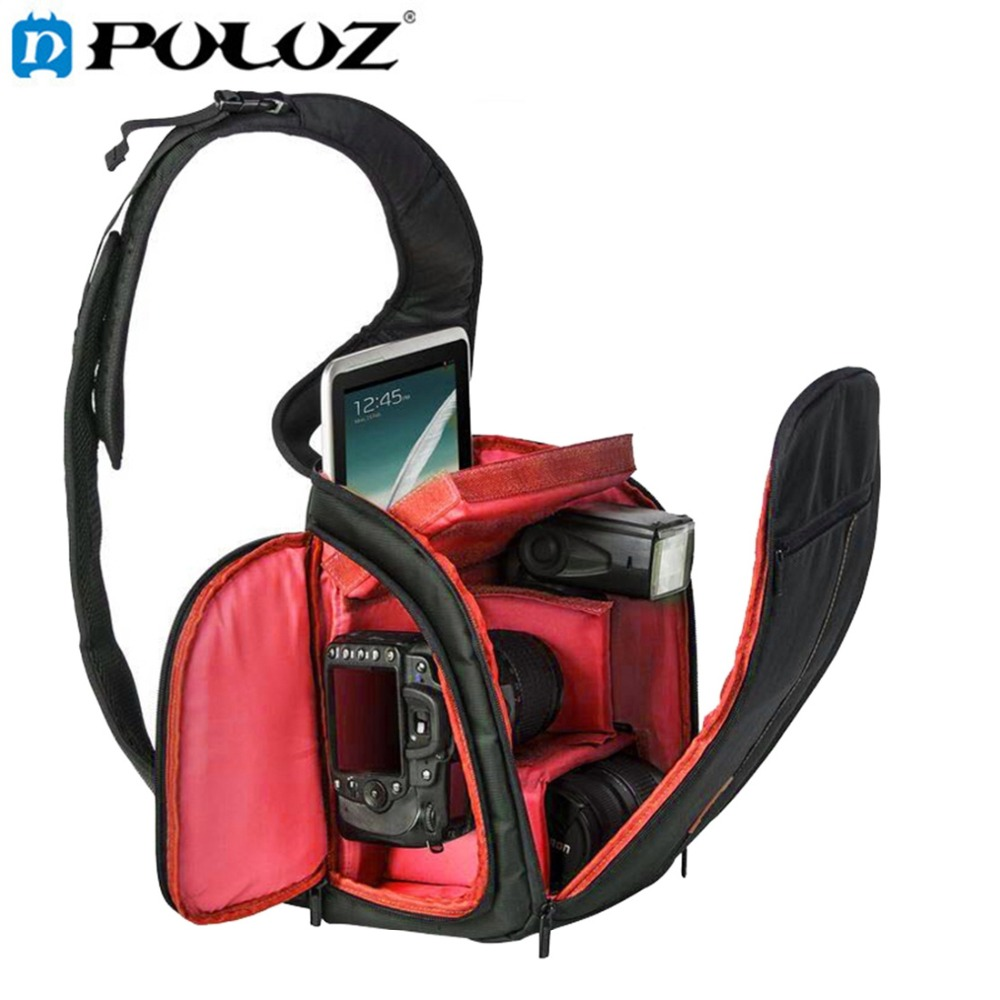 PULUZ Scratch-proof Outdoor Sports Sling Shoulder Bag Chest Pack Micro Single Shoulder Camera Photo Bag for Camera Accessories ozuko brand dslr camera bag fashion chest pack slr camera video photo digital single shoulder bag waterproof school travel bags