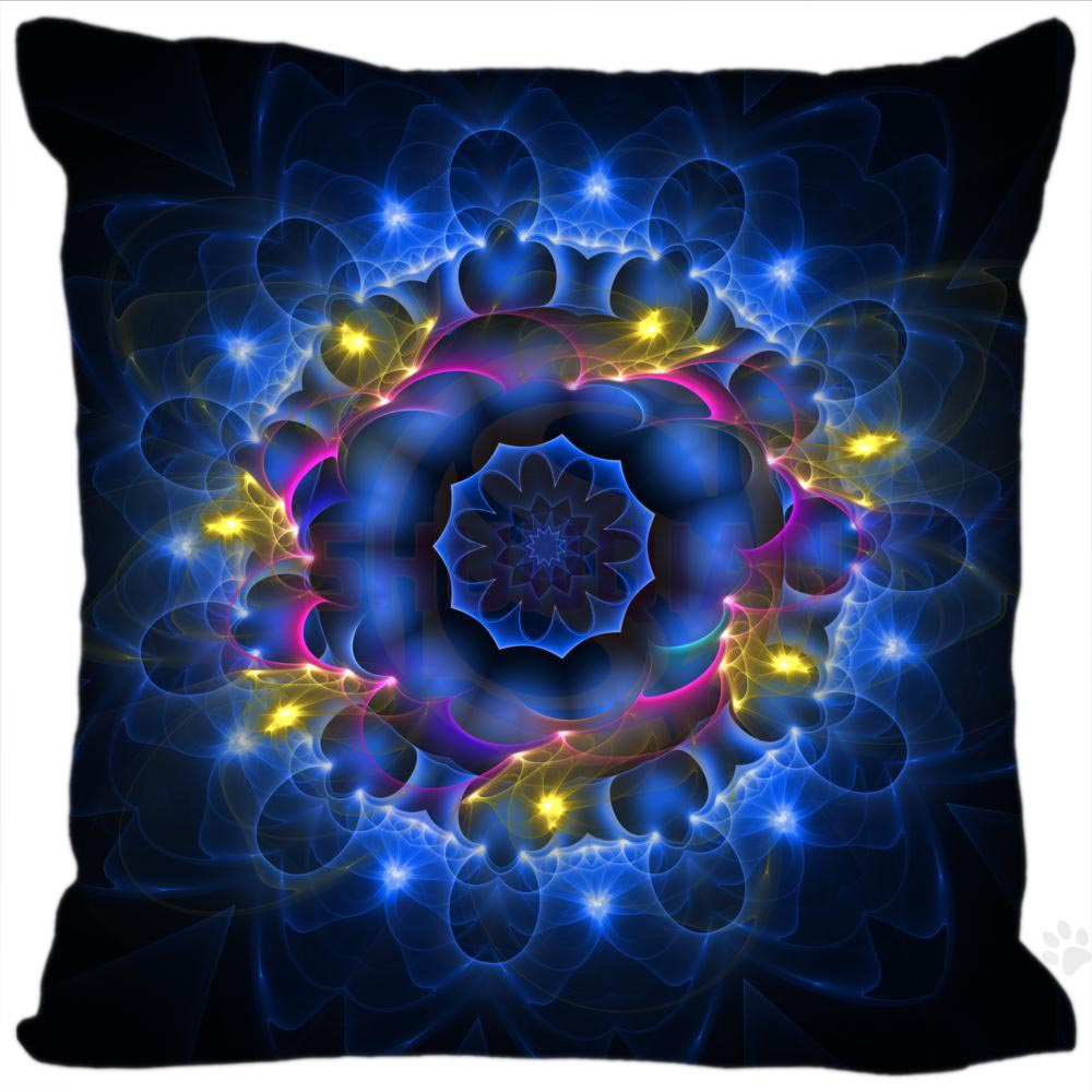 H+P#159 New Hot Custom Pillowcase mandala #4 soft 35x35 cm (One Side) Pillow Cover Zippered SQ01003@H0159