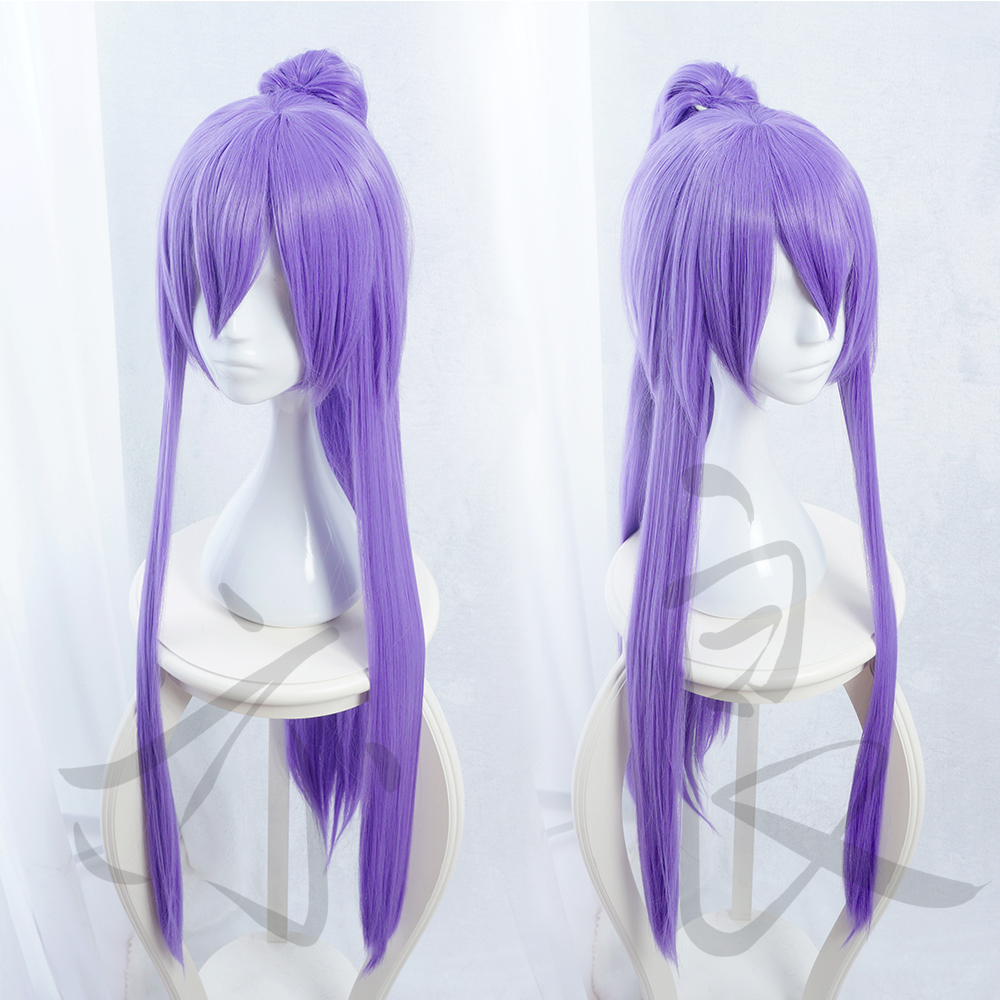 Gintama Cosplay Purple Wig Gakupo Purple Long Straight Synthetic Hair for Adult Japanese Anime Role Play