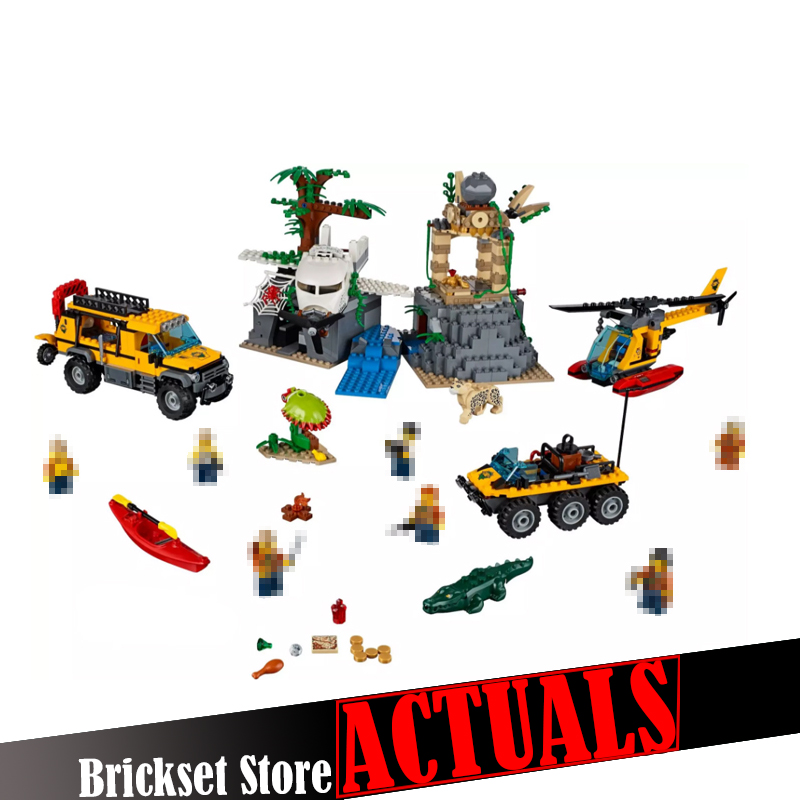 LEPIN City Exploration of jungle remains 02061 870PCS Building Blocks toy for children gift brinquedo compatible legoINGly 60161 02061 lepin city jungle exploration raiders of the lost ark model building blocks enlighten toys for children compatible legoe