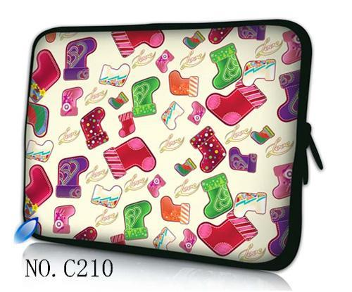 8262e068eb28 US $8.57 22% OFF|Christmas sock Laptop Cover Case For Macbook  Pro/Air/Retina Notebook Sleeve bag 13