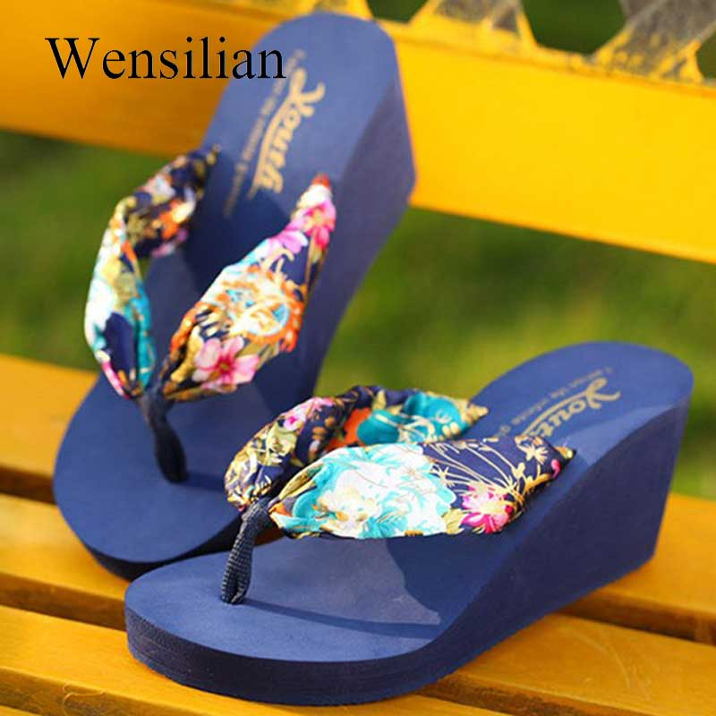 Designer Summer <font><b>Slippers</b></font> Leopard <font><b>Women</b></font> <font><b>Wedge</b></font> Flip Flops Platform Sandals <font><b>Sexy</b></font> 2018 Slides <font><b>Women</b></font> <font><b>High</b></font> <font><b>Heel</b></font> <font><b>Shoes</b></font> Zapatos Mujer image