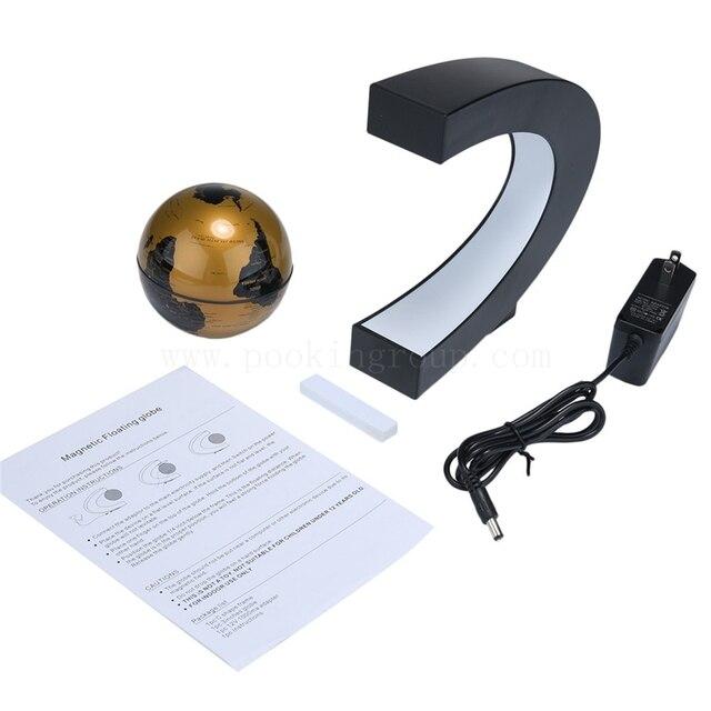 Globe deco flottant Tellurion Magnétique Lévitation Lumière Carte Du Monde Avec la Lumière 5