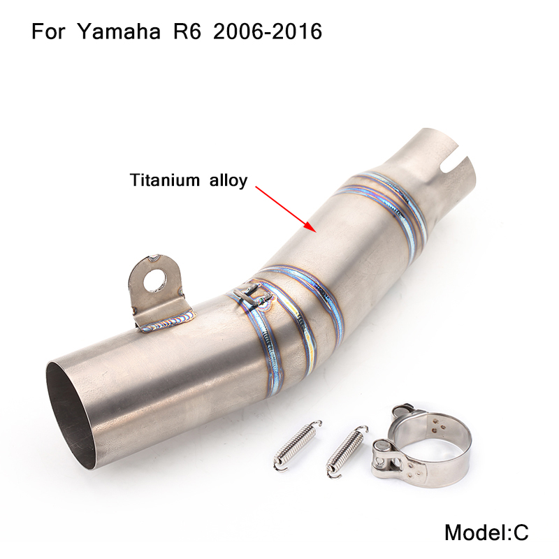 2006 2007 2008 2009 2010 2011 2012 2013 2014 2015 2016 silp on for Yamaha R6 Motorcycle Middle Connecting Pipe in Exhaust Exhaust Systems from Automobiles Motorcycles