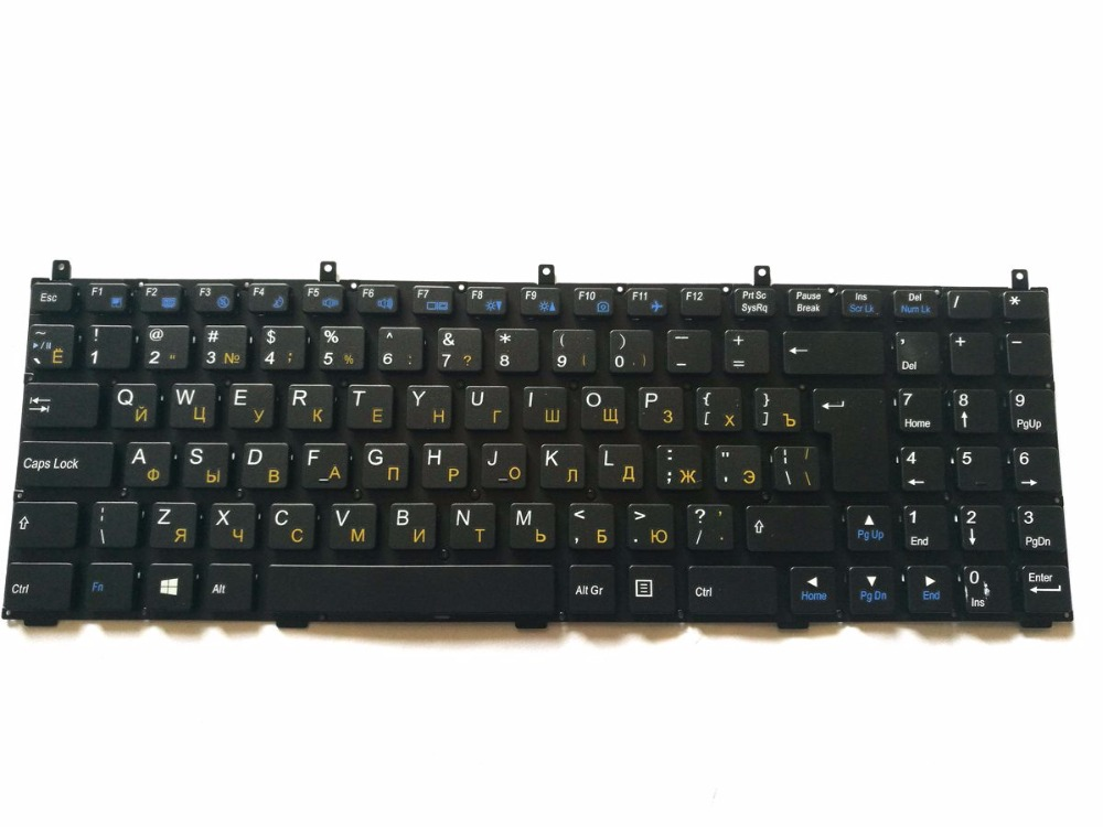 Russian RU Keyboard for 6-80-M9800-280-1 6-80-M9800-281-1, 6-80-M9800-282-1 6-79-B5100M0K-280, 6-79-E5120Q0K-280 Black