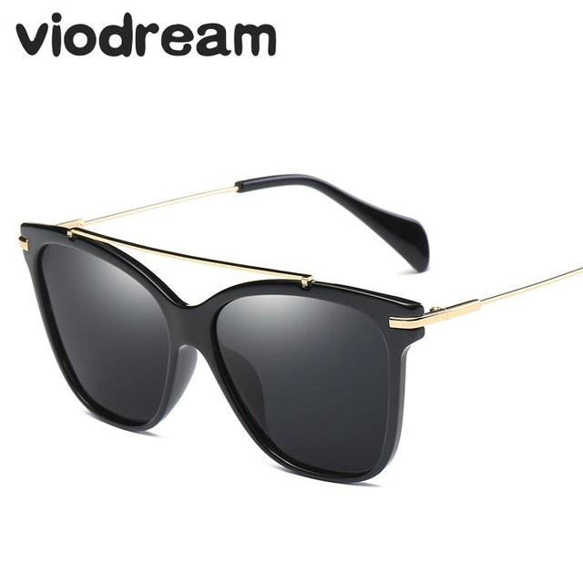 Viodream 2017 New Fashion Colorful Cat Eye Women Sunglasses Polarized Sun glasses oculos de sol Zonnebril Polarized