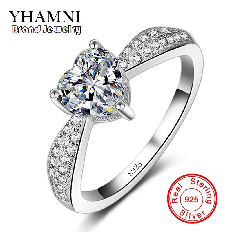 line Get Cheap Heart Shaped Diamond Wedding Rings Aliexpress