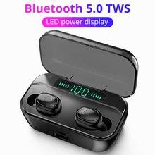 Tws pro fones de ouvido sem fio handsfree bluetooth fone esporte com cancelamento ruído sem fio para honra 9x umidigi x