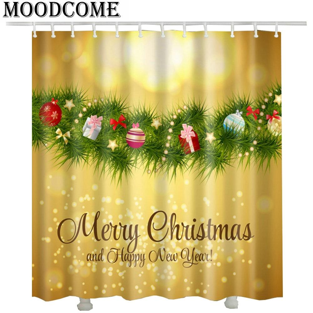 Weihnachten elch duschvorhang wasserdicht polyester günstige 2017 ...