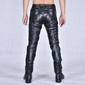 Image 3 - Nouvelle arrivla mode décontracté discothèque Costumes danse Hip hop Rock cuir pantalon loisirs hommes grande taille 27 28 29 30 31 32 33 36