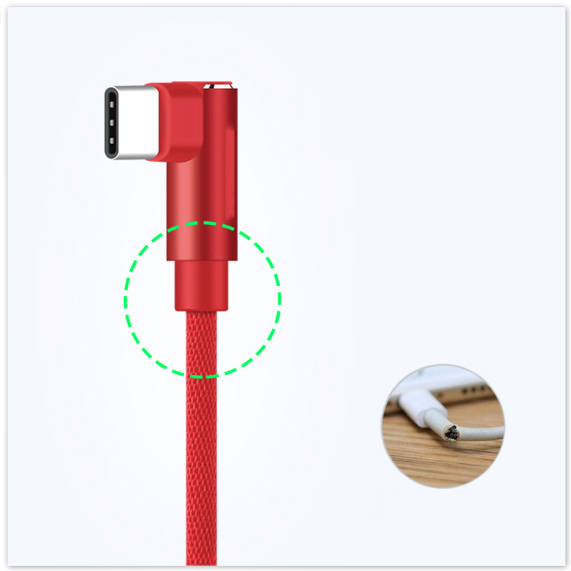 Suntaiho USB Type C Cable 90 degree elbow for Samsung Galaxy S9 S8 Plus Note 8 USB C Charger USB Cable for Xiaomi mi9 Oneplus 6