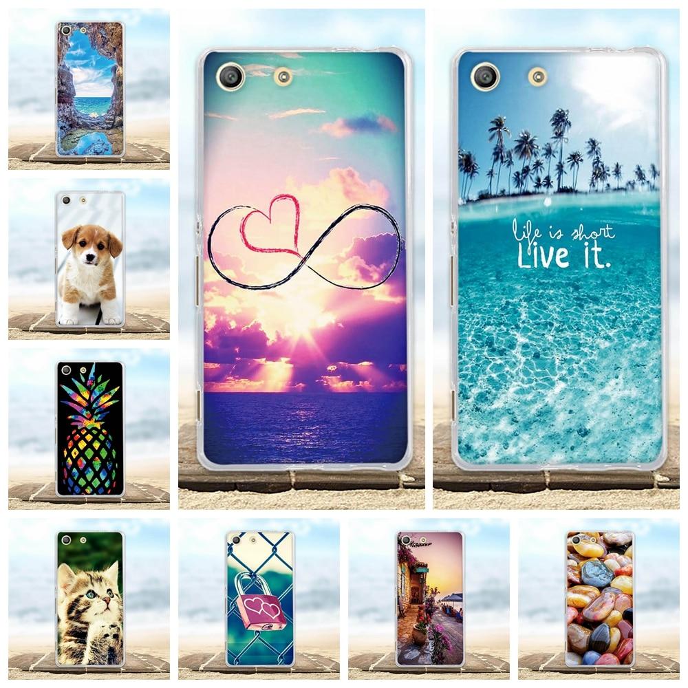 For Case Sony Xperia M5 E5603 E5606 E5653 Funda Soft Silicone TPU Cover 3D Pattern Capa For Sony Xperia M5 / M5 Dual Phone Cases