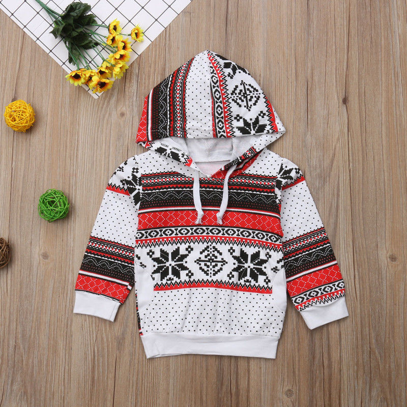 Childrens Snowflake Sweater Boys Girls Sweatshirt