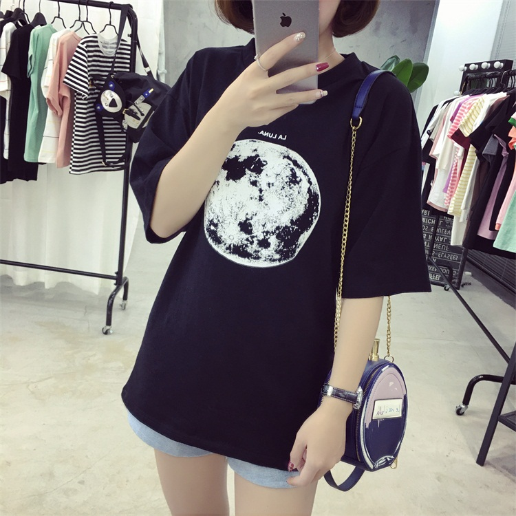 HTB12MCzPFXXXXXSapXXq6xXFXXXY - Summer Planet Earth Printed Loose Short Sleeve T Shirts