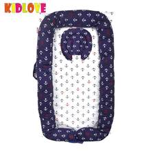 KIDLOVE Baby Newborn Portable Crib Infant Mattress Multifunctional Cradle Nursery Foldable Travel Bed torage Bag For Baby Care(China)
