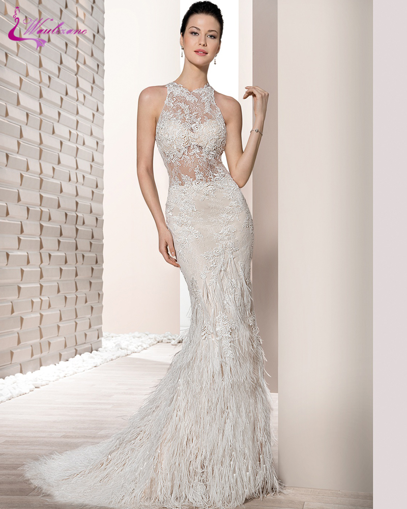Online get cheap peacock feather wedding dress aliexpress for Discount wedding dresses maryland