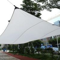 New Sand Sun Shade Sail Sunscreen Rectangle Awning Canopy Outdoor Garden Patio 4.5x5m 3x4m Hot Sale