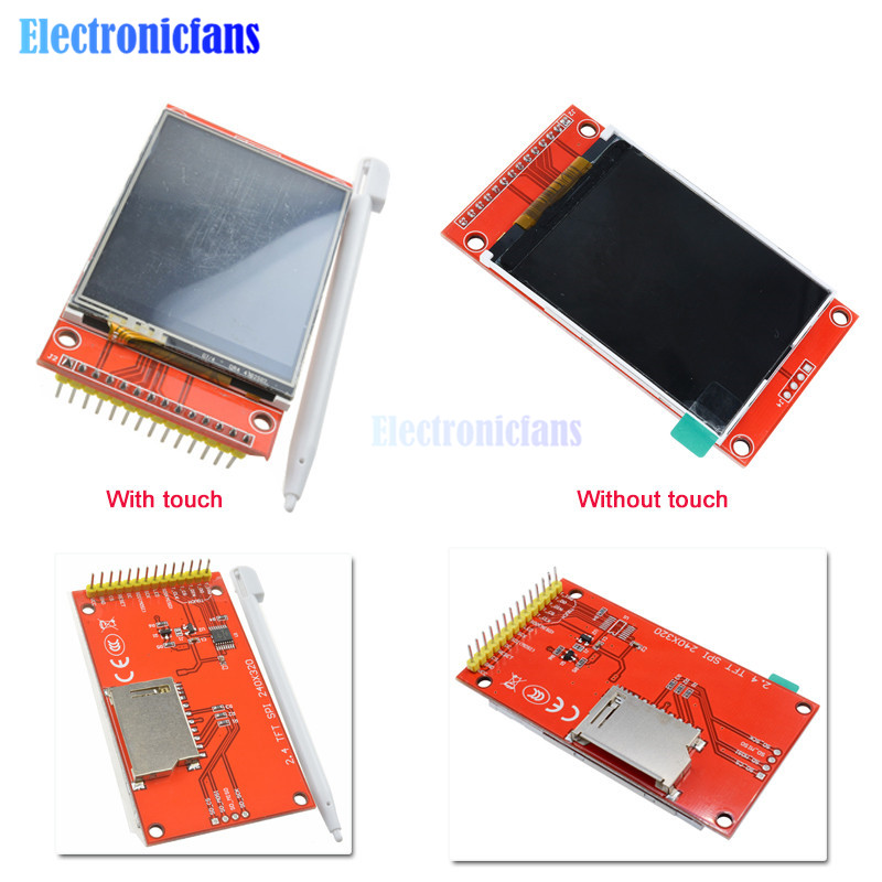 """2.4"""" 2.4 Inch 240x320 SPI TFT LCD Touch Panel Serial Port Module ILI9341 3.3V 5V PCB Adapter LCD Display for Arduino Micro SD"""