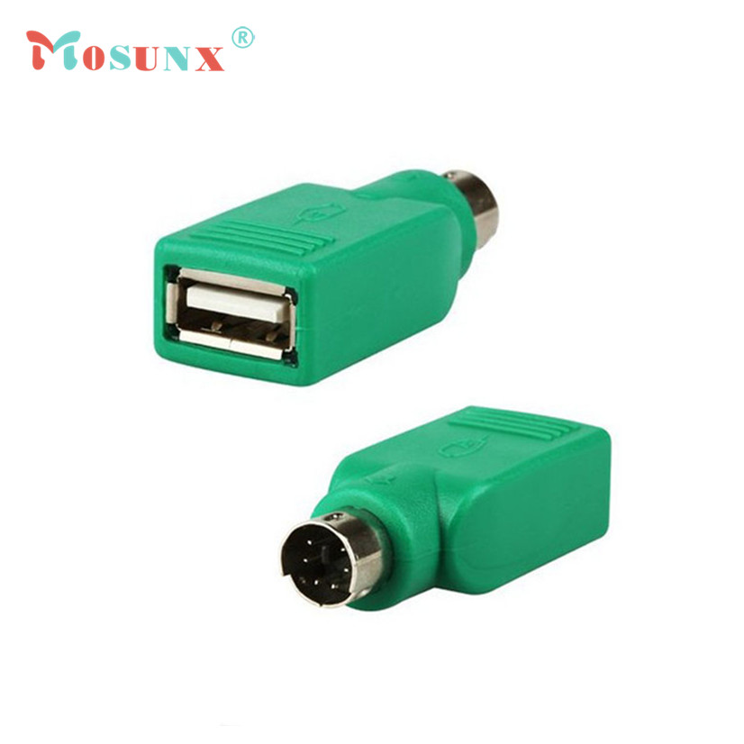 Factory Price MOSUNX Hot Selling 1PCS USB Female to PS2 PS/2 Male Adapter Converter keyboard Mouse Mice High Quality