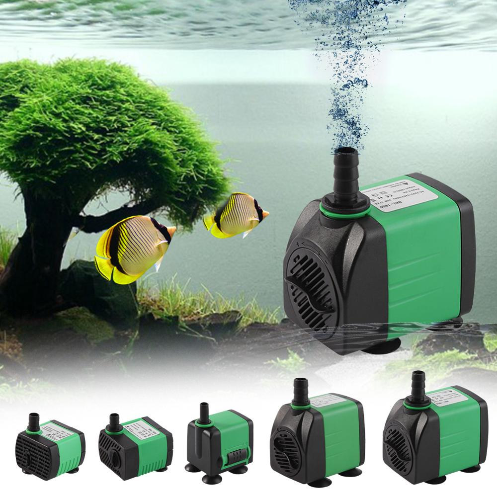 WALFRONT AC 220-240V ABS Submersible Pump Fish Tank Aquarium Pond Fountain Water Pump 5 Types Electric Submersible Water Pump tartan