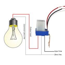 Kebidumei حار الكهروضوئية ضوء الشارع Photoswitch الاستشعار AC DC 220 V 10A السيارات On Off مفتاح مستشعر الأبيض و الأزرق