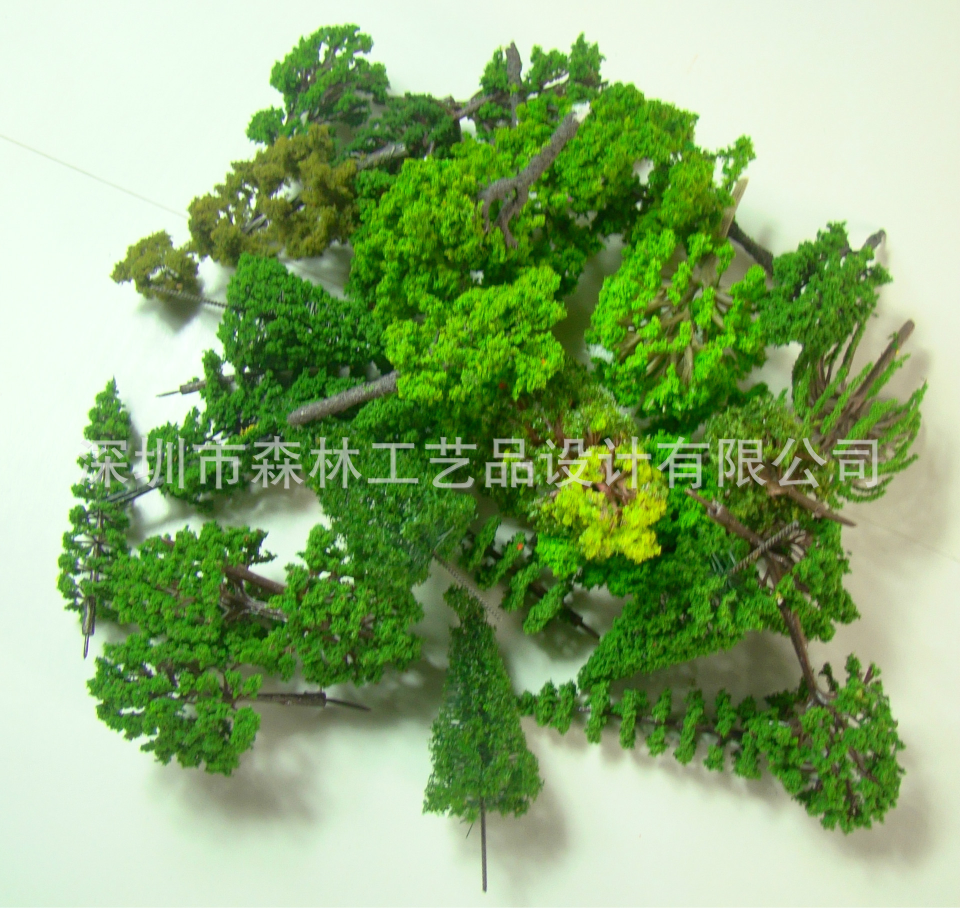 HO N OO Architectural scale model ABS plastic Green Trees 3-12CM model train landscape tree layout 41xdzs 37 urban architectural landscape print art