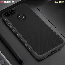 "JFVNSUN Huawei Honor 7C 5.7 ""מקרה AUM L41 SLIM אנטי להחליק מט רך TPU סיליקון שריון מגן מקרה עבור Huawei כבוד 7C כיסוי"