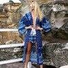 2017 Summer Style Women Sexy Swimsuit Cover Up Long Sleeve Bikini Cover Ups Chiffon Beach Long
