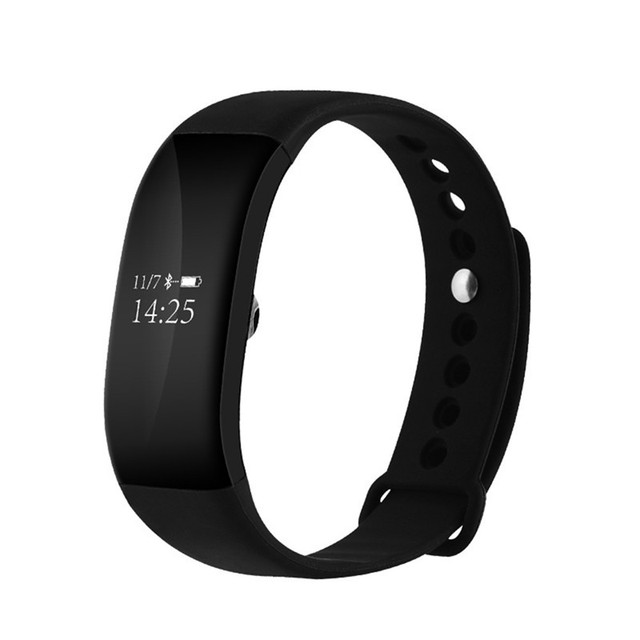 V66 Bluetooth Smart Wristband Sport Pedometer Heart Rate Monitor Smartband for  iPhone iOS for  Android Phone Bracelet