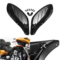 Motorcycle Adjustable Air Side Wing Fairing Deflector for Harley Touring 96 13 Black / Brown Moto Styling