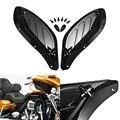 Motorrad Einstellbare Air Seite Flügel Verkleidung Windabweiser für Harley Touring 96 13 Schwarz/Braun Moto Styling|Windschutz & Windabweiser|   -