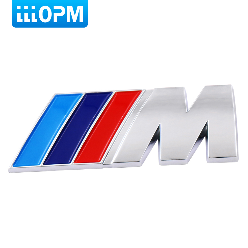 M power Motorsport Metal Logo Car Sticker Rear Trunk Emblem Grill Badge for BMW M3 M5 M6 E46 E30 E34 E36 E39 E53 E60 E90 F10 cool car auto decoration badge stickers m logo metal 3d car sticker for bmw m3 m5 x1 x3 x5 x6 e36 e39 e46 e30 e60 e92 all model