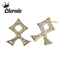 Chereda Simple Geometric Vintage Earrings for Women Men Ancient Slavic Earring Ethnic Classic Jewelry