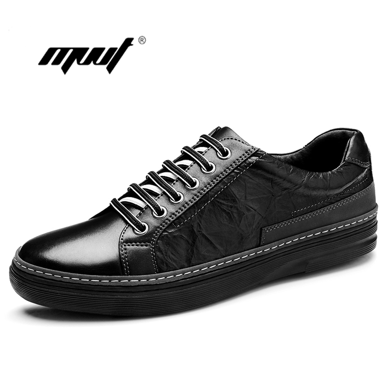 High quality Genuine Leather Men Shoes Lace-Up Casual shoes Handmade Driving Shoes Flats Loafers For Men Oxfords Shoes men s genuine leather casual shoes handmade loafers for male men waterproof flat driving shoes flats
