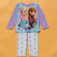 Девушки зимние пижамы набор Детей с длинным Рукавом + Брюки 2 Шт Костюмы mircrofleece пижамы Дети sleeper одежда