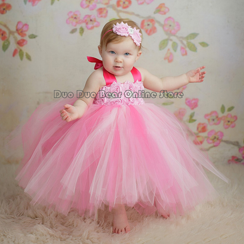 Baby Ball Gown For Wedding Tutus Infant Princess Dress Girl Birthday