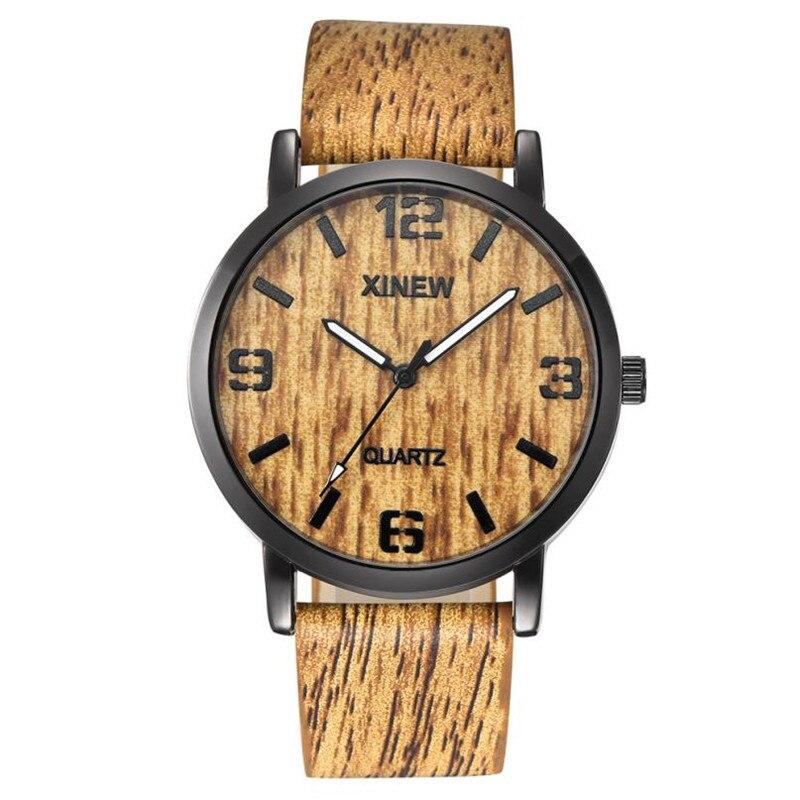 Wood Watch Vintage Relogio Masculino Luxury Quartz 40 Imitation Retro