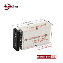 The TDA/TN16 two-axis double bar cylinder TN16X10X20X30X40X50X60X70X75X80X90X100X125X150-S AirTAC type TN16X20-S TN16X50-S TDA16