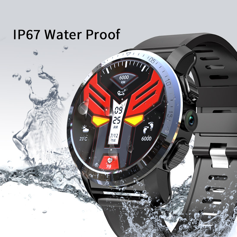 "KOSPET Optimus Pro 3GB 32GB 800mAh Battery Dual Systems 4G Smart Watch Phone Waterproof 8.0MP 1.39"" Android7.1.1 Smartwatch Men"